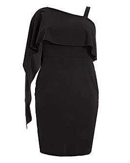 Quiz Asymmetric Black Bodycon Dress