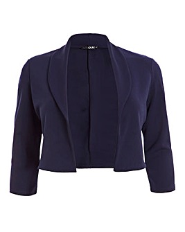 Quiz Navy Cropped Jacket