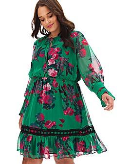 Lovedrobe Puff Sleeve Printed Dress