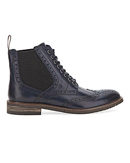 Joe Browns Side Elastic Brogue Boot S