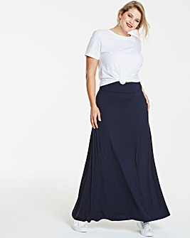 Stretch Jersey Maxi Skirt