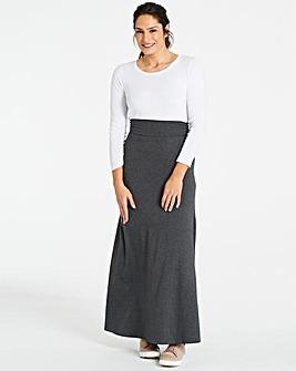 Stretch Jersey Maxi Skirt