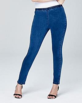 Petite Pull On Slim-Leg Jeggings
