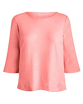 JOANNA HOPE Textured Jersey Top