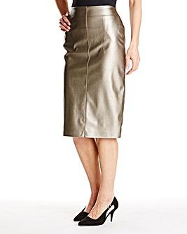 JOANNA HOPE PU Pencil Skirt