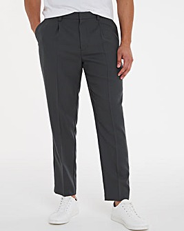 Grey Tapered Trousers with Pleat Front