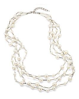 JOANNA HOPE Multi Strand Pearl Necklace