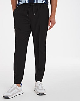 Black Elasticated Cuffed Jogger Trousers