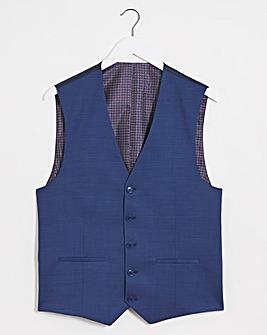 Bruce Navy Check Waistcoat