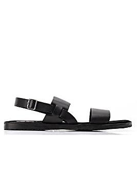 Base London Titas Waxy Slip On Sandal