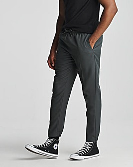 Grey Elasticated Cuffed Jogger Trousers