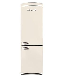 Servis Retro Cream Fridge Freezer