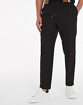 Black Elast Jogger Trousers with Turn Up