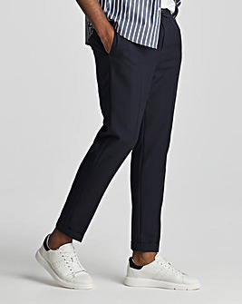 Navy Elast Jogger Trousers with Turn Up
