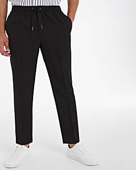 Black Elasticated Jogger Trousers