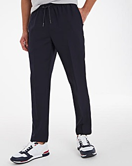 Navy Elasticated Jogger Trousers