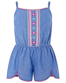 Accessorize Chambray Mirror Playsuit