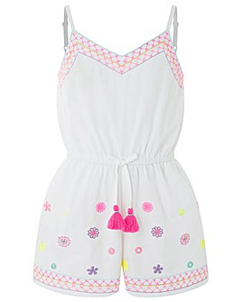 Accessorize Bahama Embroidered Playsuit