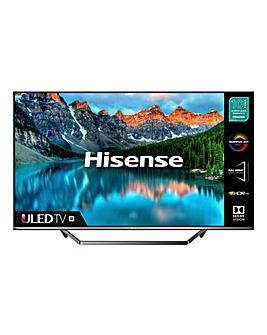 """Hisense 55U7QFTUK 55"""" 4K HDR Ultra HD QLED Smart TV"""