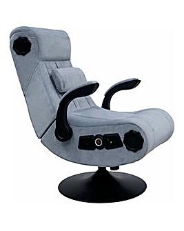 X Rocker Deluxe Chenille Pedestal Chair