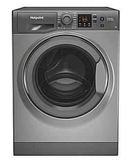 HOTPOINT NSWM742UGGUKN 7KG 1400 Spin Washing Machine GRAPHITE + INSTALL