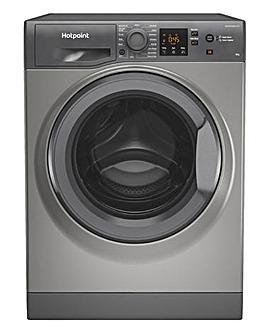 HOTPOINT NSWM843CGGUKN 8KG 1400 Spin Washing Machine GRAPHITE