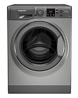 HOTPOINT NSWM 943C GG UK N 9KG 1400 Spin Washing Machine GRAPHITE