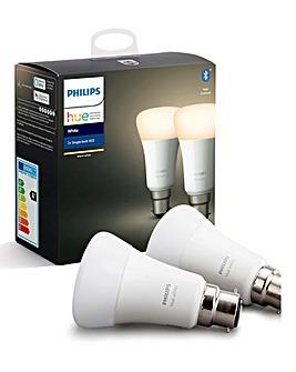 Philips Hue White B22 - 2 Pack