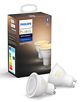 Philips Hue Bluetooth White Ambience GU10 Twin Pack