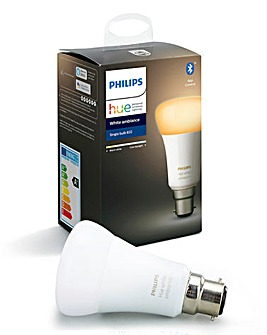 Philips Hue BT White Ambience B22 Single Bulb