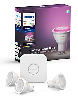 Philips Hue BT White & Colour Ambience GU10 3 Pack