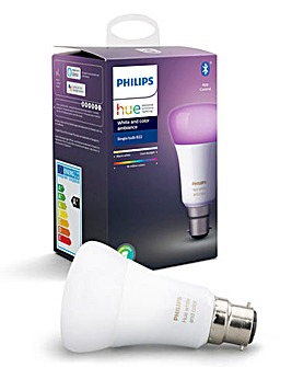 Philips Hue BT White & Colour Ambience B22 Single Bulb