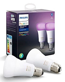 Philips Hue BT White & Colour Ambience E27 Twin Pack