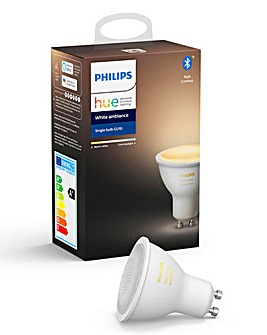 Philips Hue BT White Ambience GU10 Single Bulb
