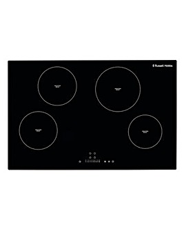 Russell Hobbs Black Glass 4 Zone Induction Hob with Touch Control