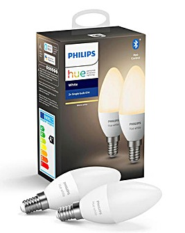 Philips Hue White E14 - 2 Pack