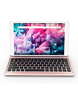 ENTITY Verso Duo 10.1in Android 10 Tablet & Keyboard Rose Gold