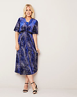 Julipa Glitter Velour Wrap Dress