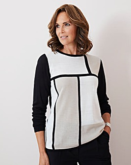 Julipa Super Soft Colour Block Jumper