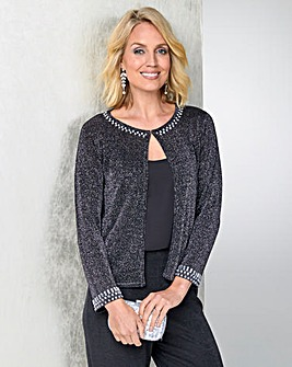 Julipa Glitter Shrug with Jewel Detail