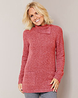 Julipa Coral Boucle Cowl Neck Jumper