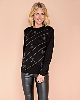 Julipa Star Embellished Jumper