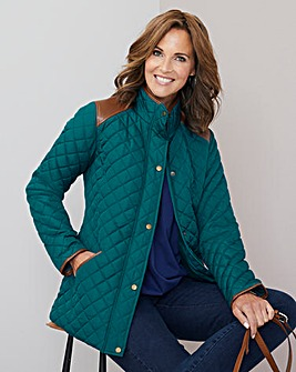 Julipa Padded Jacket with PU Trim