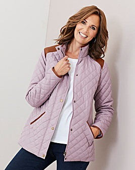 Julipa Heather Padded Jacket with PU Trim