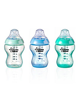 Tommee Tippee Closer to Nature Coloured Baby Bottles 260ml