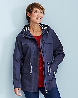 Nautical Jacket with Stripe Lining
