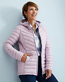 Julipa Lilac Padded Jacket in Bag with Hood