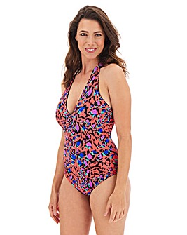 Reversible Halterneck Plunge Swimsuit
