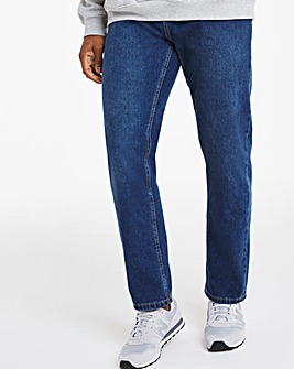 Stonewash Straight Fit Rigid Jeans