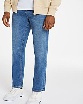Bleachwash Straight Fit Rigid Jeans